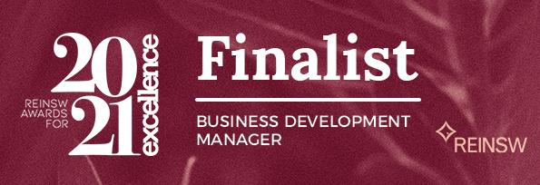 2021 FINALIST REINSW Awards - Business Development Manager