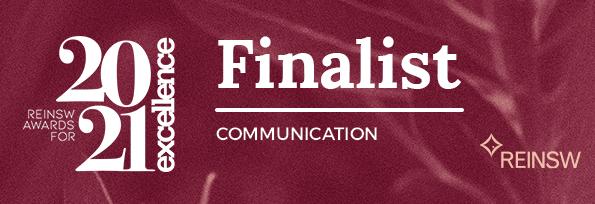 2021 FINALIST REINSW Awards - Communication