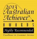 Highly Recommended Excellence in Customer Relations Award 2013