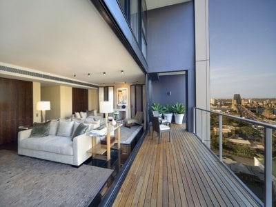 City Penthouse outdoor living area