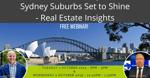 Webinar Banner - Sydney Suburbs set to Shine