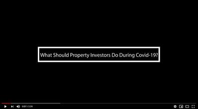 What should property investors do during covid19