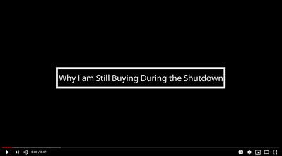 Why I am still buying during the Shutdown
