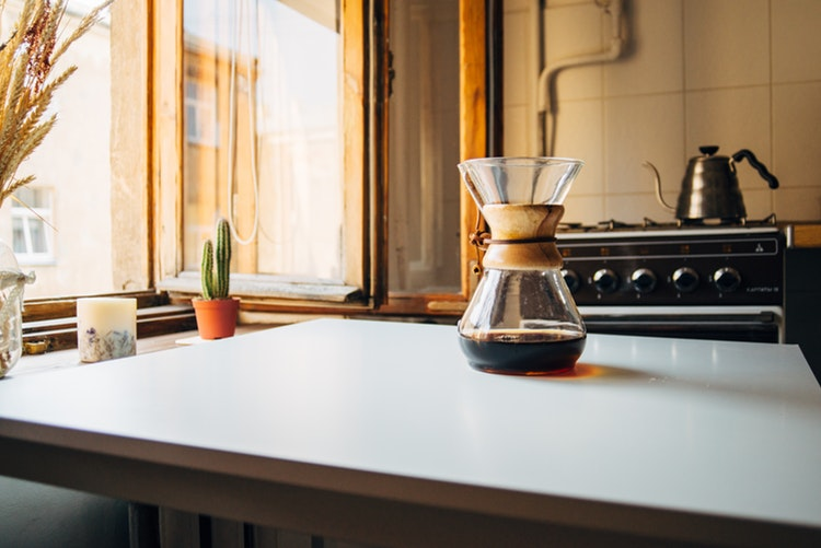 coffee on kitchen counter
