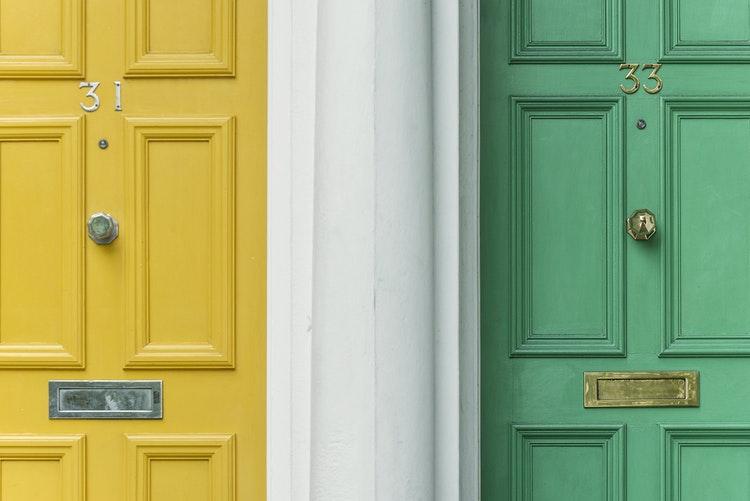 front doors colours
