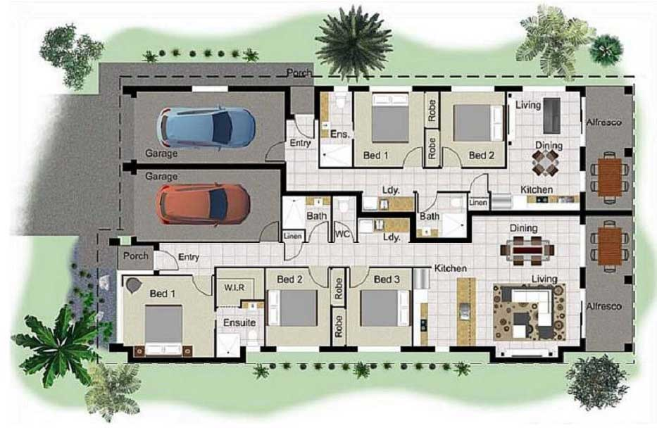 Dual Living property floor plan
